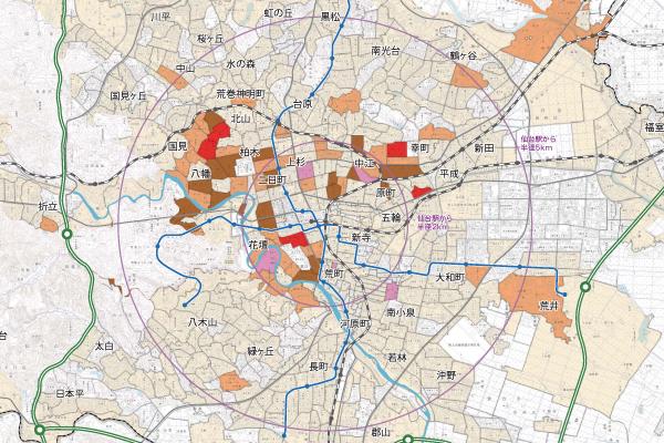 仙台市 外国人人口マップ